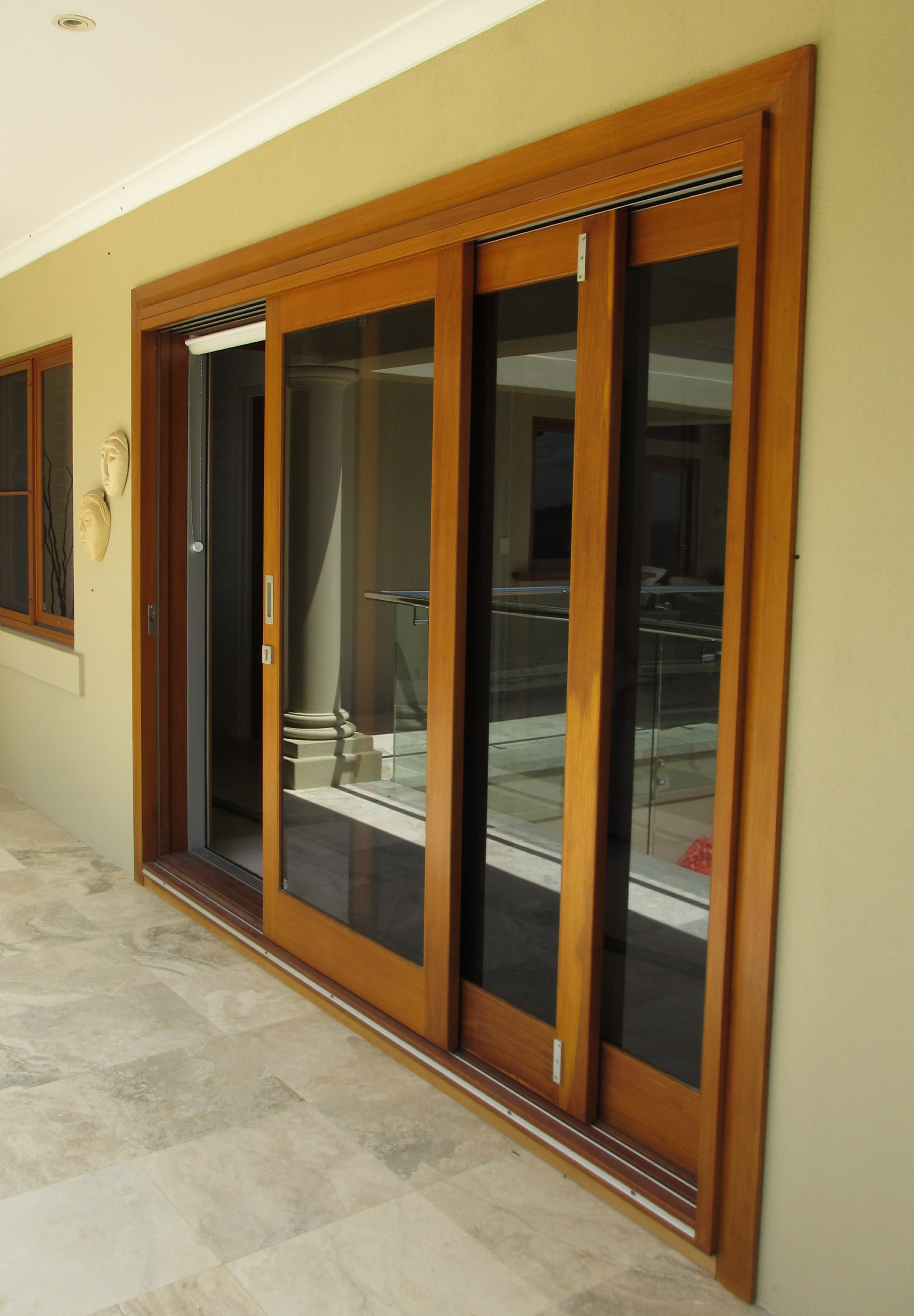 Painted Wood Sliding Glass Doors Second