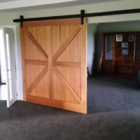 Cedar T&G barn door 2